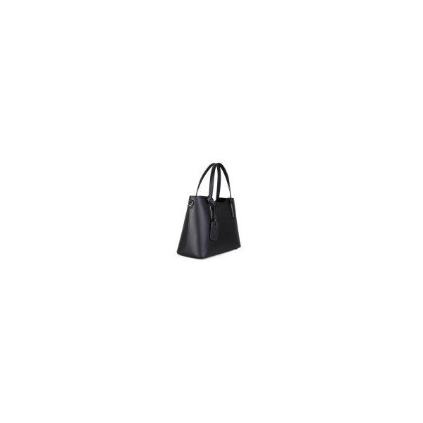 a06dc37dd4 Luxusní kabelka Vera Pelle luxusní Italské černé Carina s broží ...