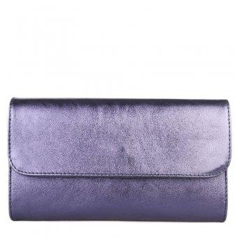 60d0ca8da627 Italská modrá listová kožená kabelka Lucia